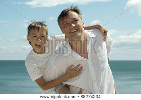 dad and child