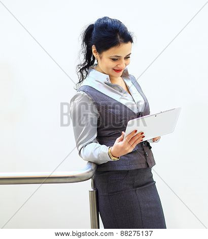 business woman on a good working day