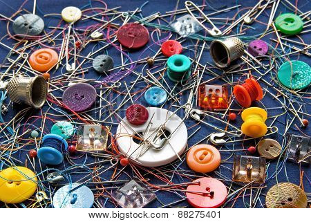 The sewing things