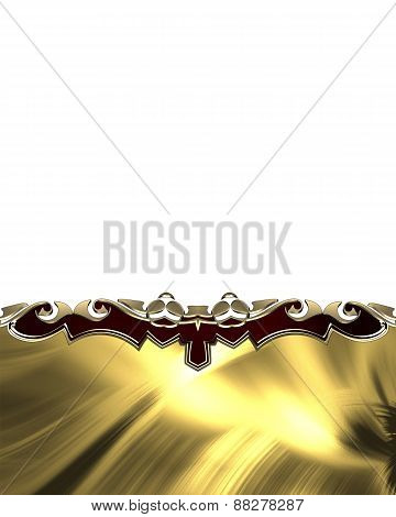Element For Design. Template For Design. Abstract Yellow Plate With Black Pattern