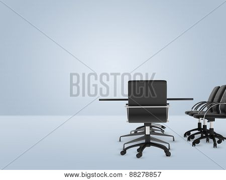 Office with furniture on right side of picture
