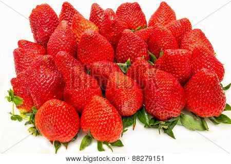 Plenty Of Strawberries Isolated Over A White Background