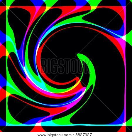 Decorative abstraction spiral