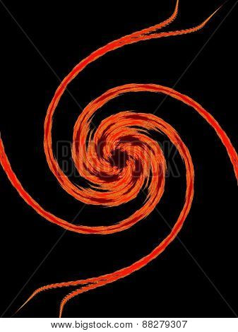 Red abstraction spiral