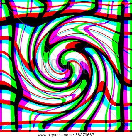 Abstract multicolor decorative spiral