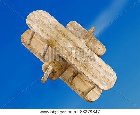 Biplan On A Sky