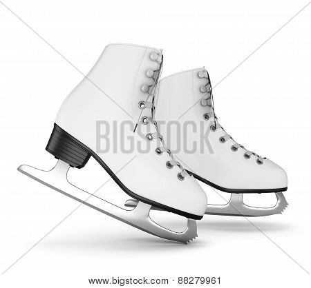 Figure Skates Isolate On White