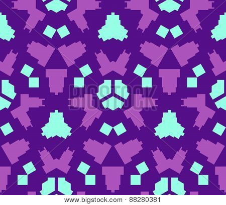 Purple Violet Blue Color Abstract Geometric Seamless Pattern.