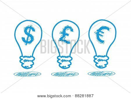 Money Icon In The Lamp