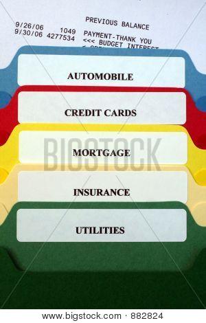 Folders Of Personal Bills