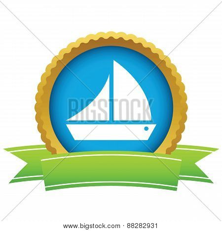 Gold ship logo