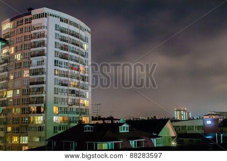 Nightime Apartments