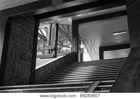 Black And White Walkway