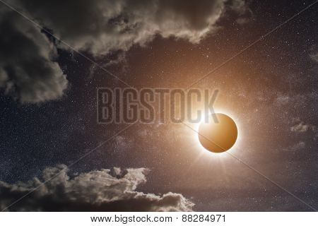 Eclipse On The Planet Earth