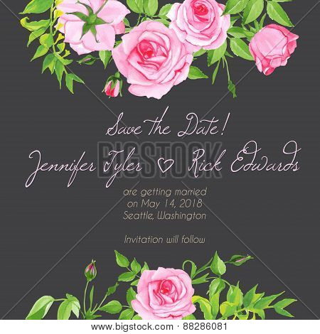 Grey Floral Design Frame Vector Element