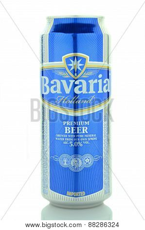 Bavaria beer isolated on white background
