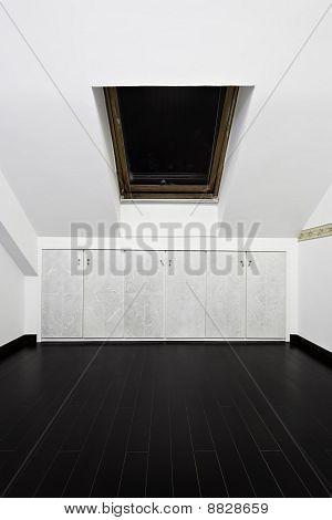 Attic Room With Roof Skylight Window
