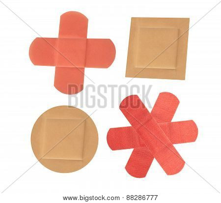 Medical Patch Isolated On White