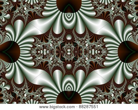 Fabulous Symmetrical Pattern For Background. Artwork For Creative Design, Art And Entertainment. Com