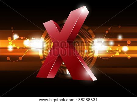 Extreme Symbol With Technology Background