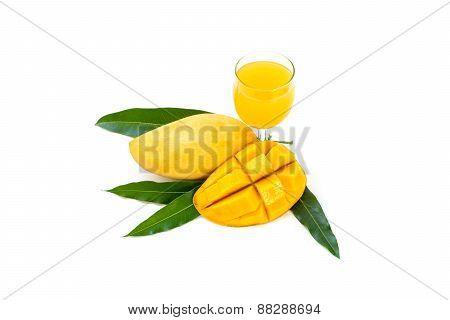 Yellow Mango And Mango Juice