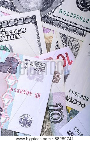 Heap From Dollars, The Russian Money And Euro