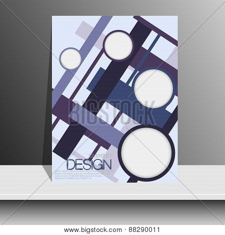 Magazine Cover With Pieces Of Colored Paper For Brochures, Flyers, Books, Albums, Booklets, Leaflets