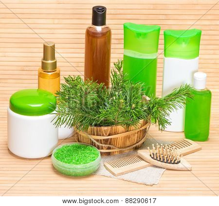 Natural Cosmetics And Accessories For Hair Health And Beauty