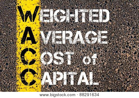 Acronym Wacc As Weighted Average Cost Of Capital