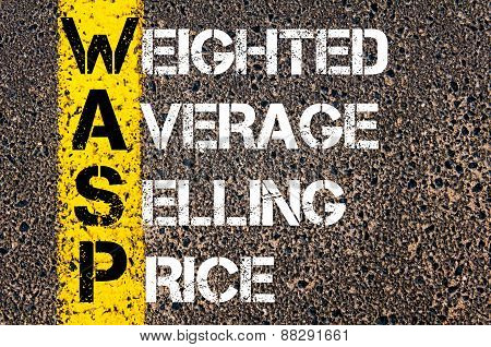 Business Acronym Wasp As Weighted Average Selling Price