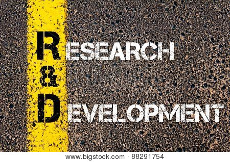Business Acronym Rd As Research And Development