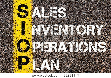 Business Acronym Siop As Sales Inventory Operations Plan