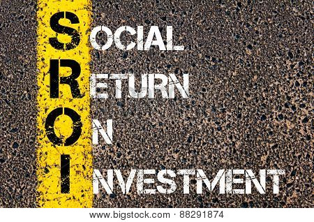 Business Acronym Sroi As Social Return On Investment