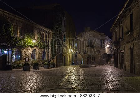 City Of Carcassonne At Night