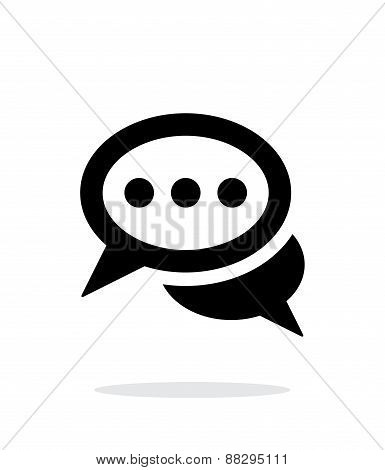 Messages icon on white background.