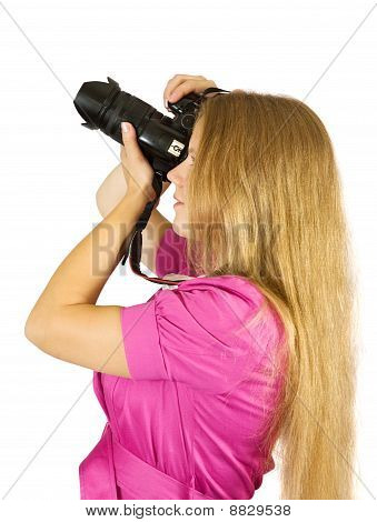 Young Photographer Girl