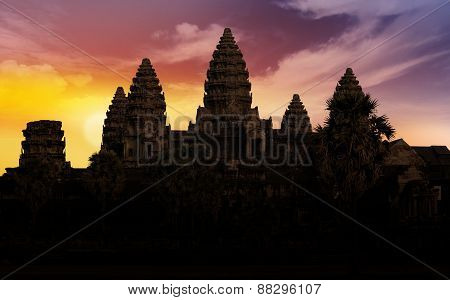 Angkor wat backlit
