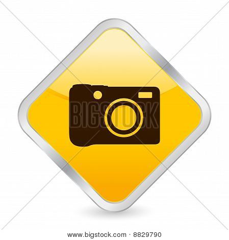 Digital Photo Yellow Square Icon