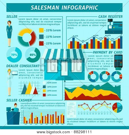 Salesman Infographics Set