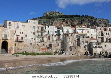 Italy. Sicily Island . Province Of Palermo. View Of Cefalu