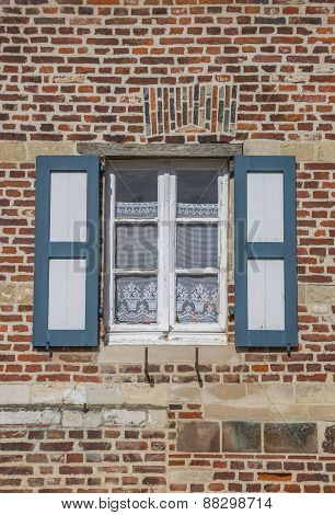Window Of An Old House At The Vlierbeek Abbey In Leuven