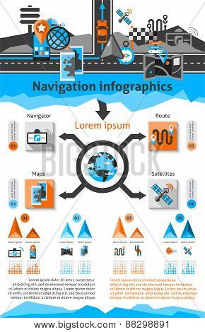 Navigation Infographic Set