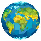 stock photo of continent  - Planet Earth with continents - JPG