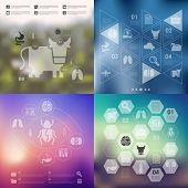 foto of veterinary  - veterinary vector infographics with unfocused blurred background - JPG