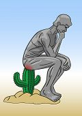 stock photo of anus  - Hemorrhoid is the same as sitting on a cactus - JPG