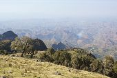 pic of ethiopia  - Panorama of the landscape of Semien Mountains National Park - JPG