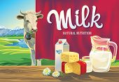 stock photo of milk products  - Set of milk products - JPG
