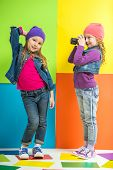 pic of little girls photo-models  - Best friends - JPG