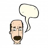 picture of annoying  - cartoon annoyed old man with speech bubble - JPG