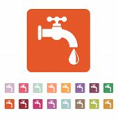 stock photo of stopcock  - The tap water icon - JPG